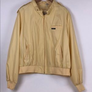 MEMBERS ONLY Yellow Bomber Jacket Size 3X